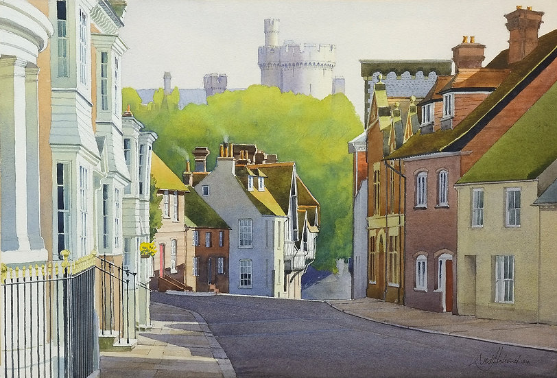 Arundel Castle from Maltravers Street