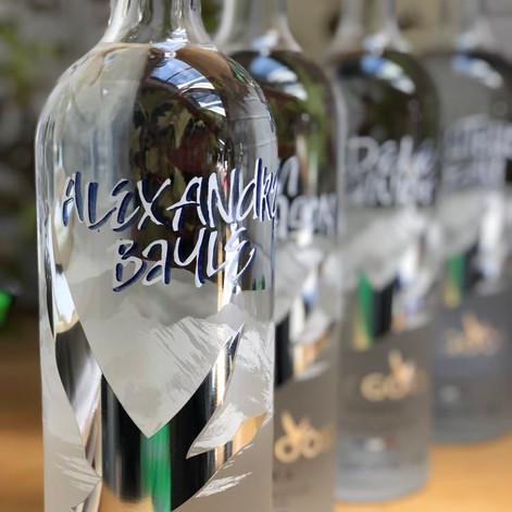 Calligraphy on Bottles