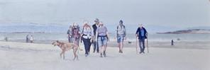 Walkers at East Head