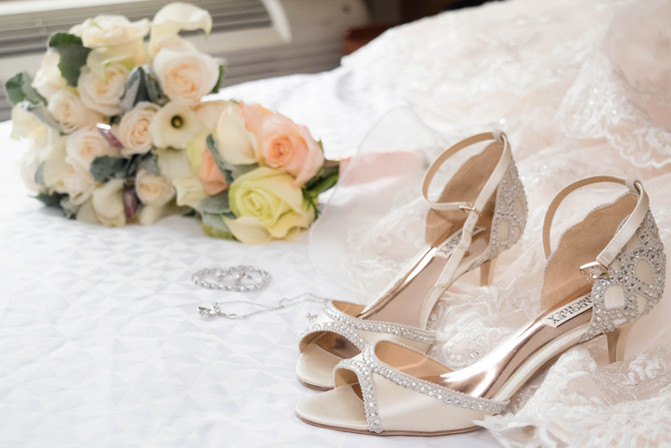 Flowers and Wedding Shoes