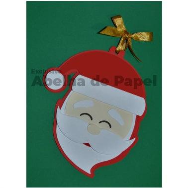 Molde digital Cartão de Natal Papai Noel
