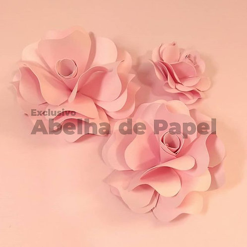 Molde digital Flor 49 ( 2.0) + 2 folhagens exclusivas