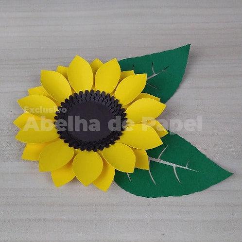 Molde digital Flor 46 + folhagem