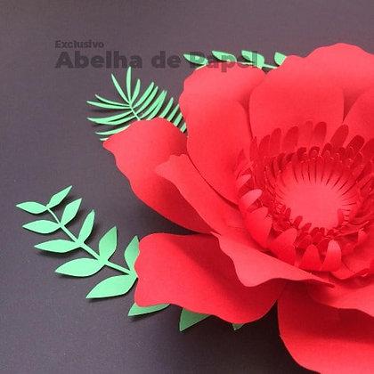 Molde digital  Flor Gigante 13