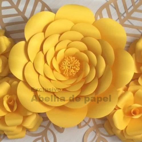 Molde digital  Flor Gigante 01
