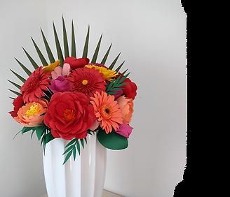 Empreenda com flores de papel pequenas.p
