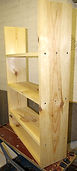 constructed from pine wood cut to specifications