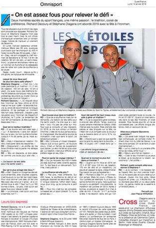 Presse | Stéphane DIAGANA et Richard DACOURY nous révèlent leur prochain défi