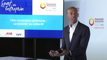 Partenariat   Stéphane DIAGANA ambassadeur d'Harmonie Mutuelle