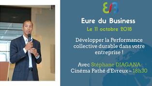 Conférence | Stéphane DIAGANA s'adresse aux entrepreneurs de l'Eure du Business