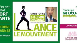 Conférence | La Fondation Mutualia Grand Ouest invite Stéphane Diagana pour parler du sport santé