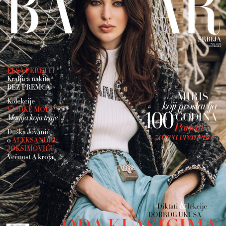 Cover editorial for Harpers Bazaar Serbia