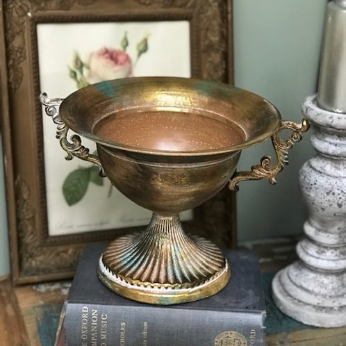 Fluted scroll flower bowl