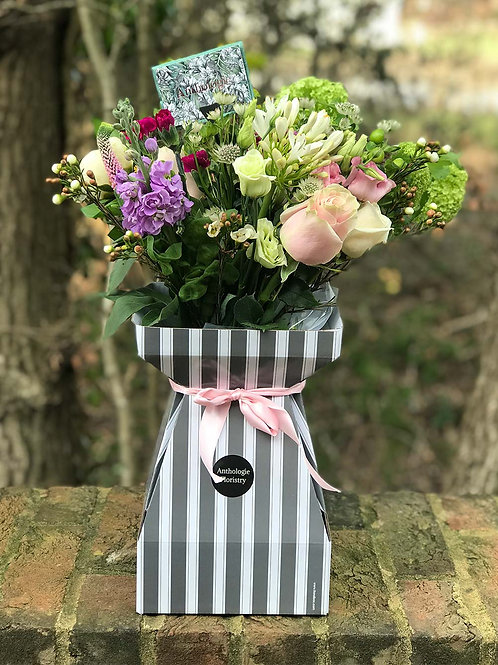 Boxed Bouquet of Flowers (Monthly)