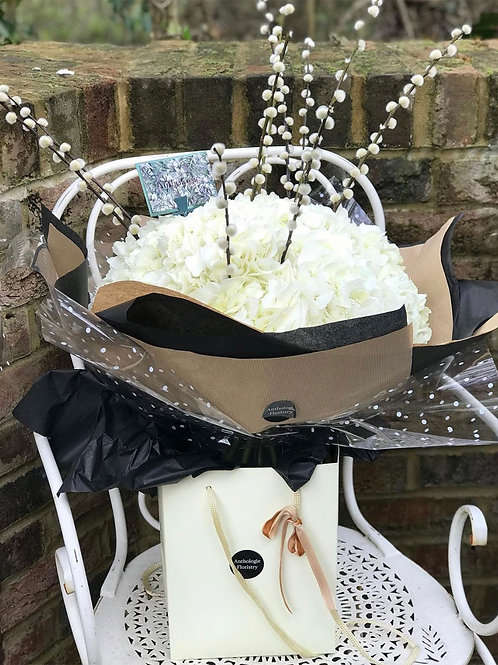 Elegant White Hydrangea Bouquet