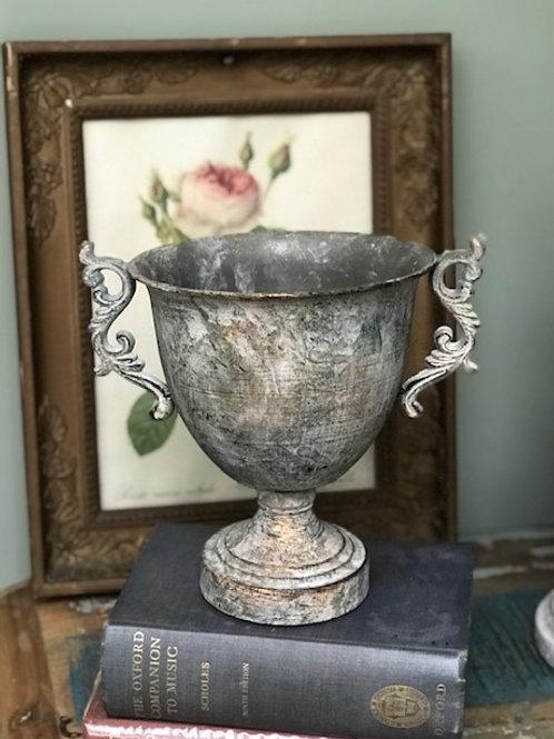Scroll Metal Flower Bowl