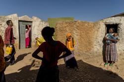 קרן רחוב בשכונה באתיופיה