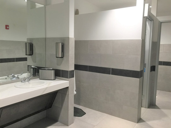 commerical bathroom installation
