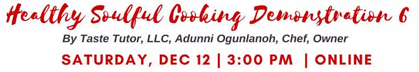 Healthy Soulful Cooking Demostrations 6.