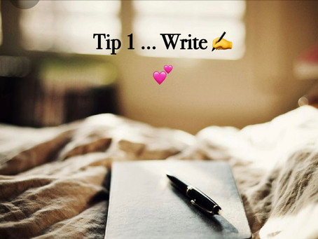 Day 1 Tip - Write!