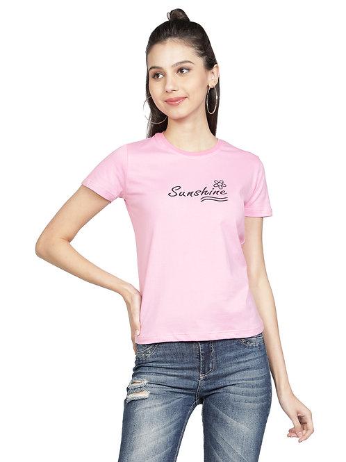 Kodnya round neck regular fit printed tshirt