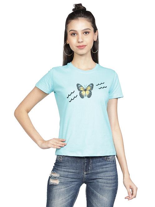 Kodnya round neck printed regular fit tshirt