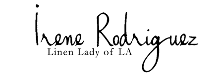 Irene Rodriguez, Linen Lady of LA, Luxury Linens