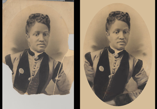 Restoration of an old photo is a great honor
