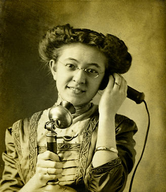 Old-time telephone call