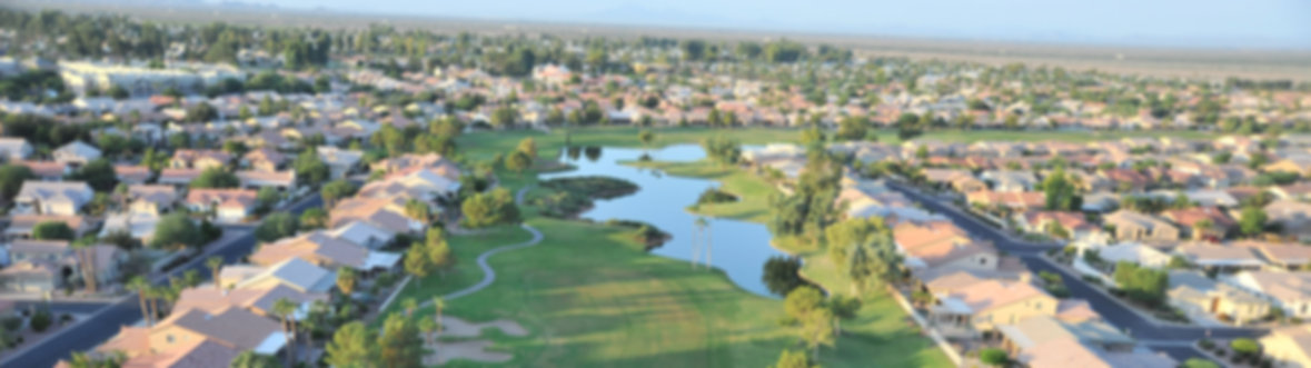 An areial photo of Sun Lakes, AZ