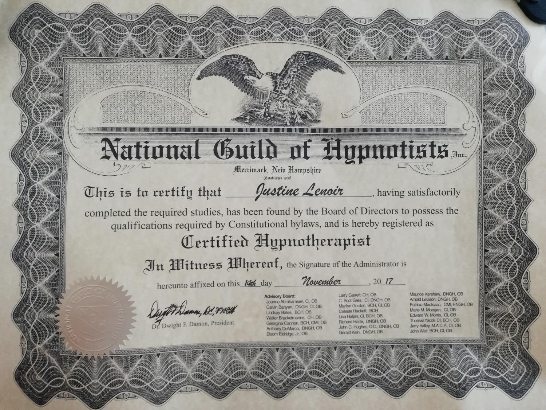 Certified Hypnotherapist Lyon