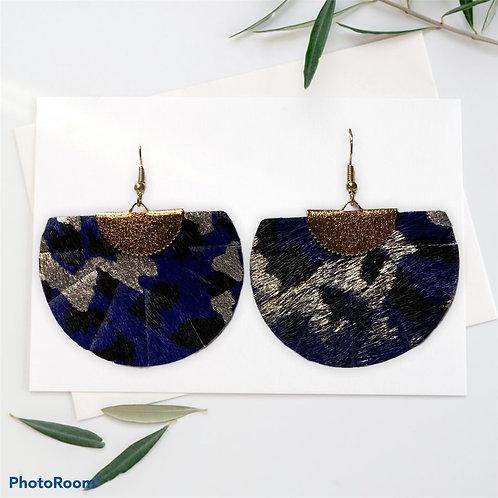 Leopard Print Fan Earrings