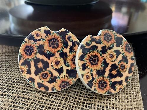 Decorative Car Coasters (Set of 2)