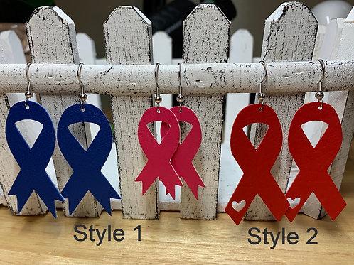 Support Ribbon Earrings