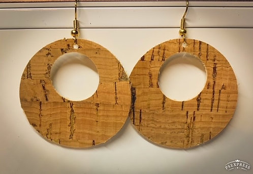 Open Circle Cork with Gold Fleck