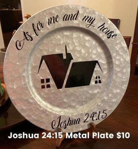 Joshua 24:15 Metal Plate