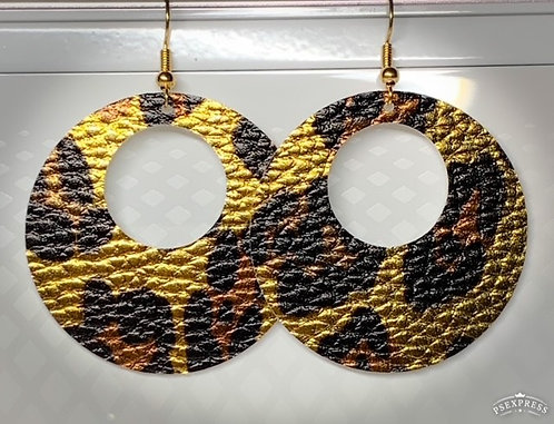 Open Circle Gold Leopard