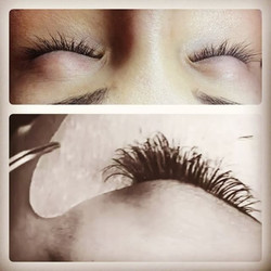 70% to a complete FULL SET!😍Lash perm (not my work) VS (my) damage free 3-D volume lashe extensions
