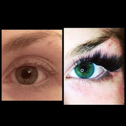 Before & After CAT EYE 3D lash extensions ❤️❤️❤️ #mayalashes_ #3Dlashes #bestlashes #lashes #beverly
