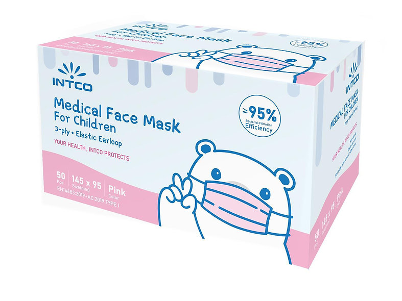 Mascherine Chirurgiche Bambini Rosa box da 50