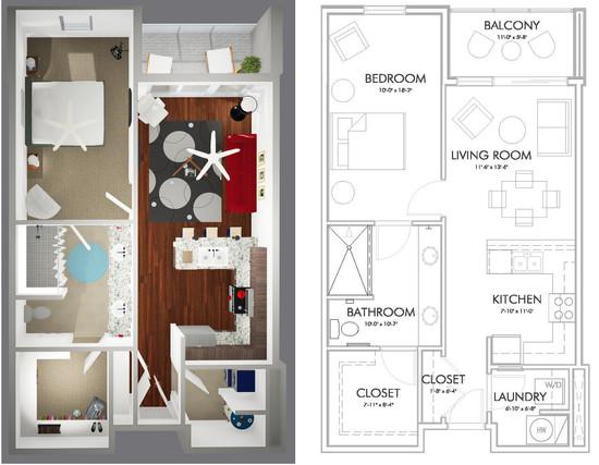 A1-C Floor Plan