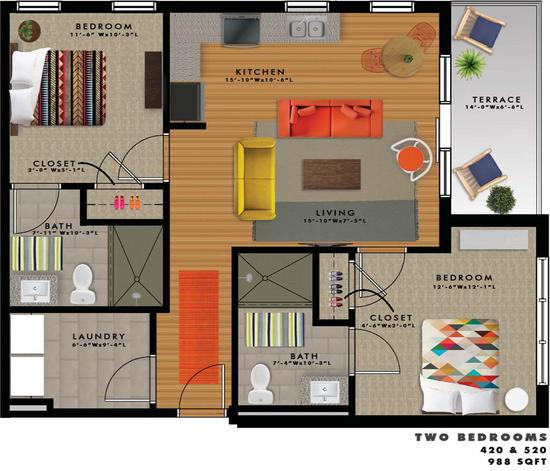 B2-K Floor Plan
