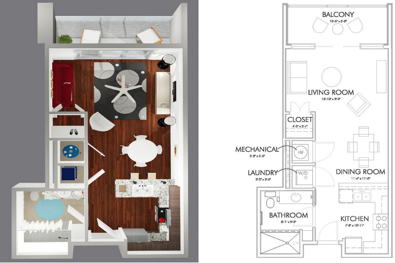 S1-B Floor Plan