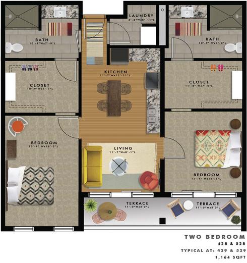 B2-R Floor Plan