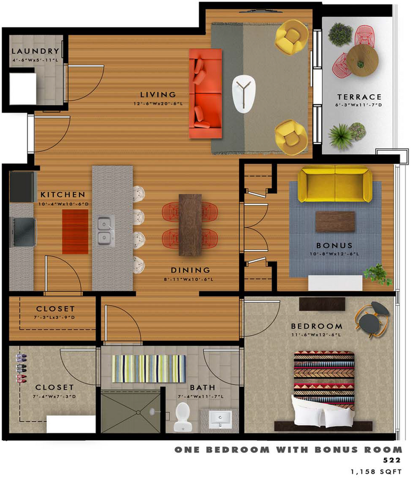 A2-M2 Floor Plan