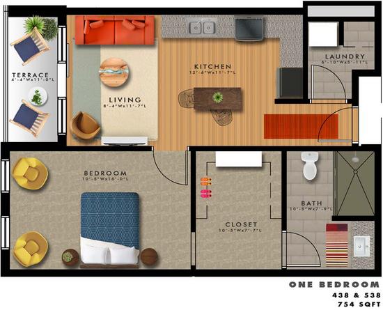 A2-U Floor Plan