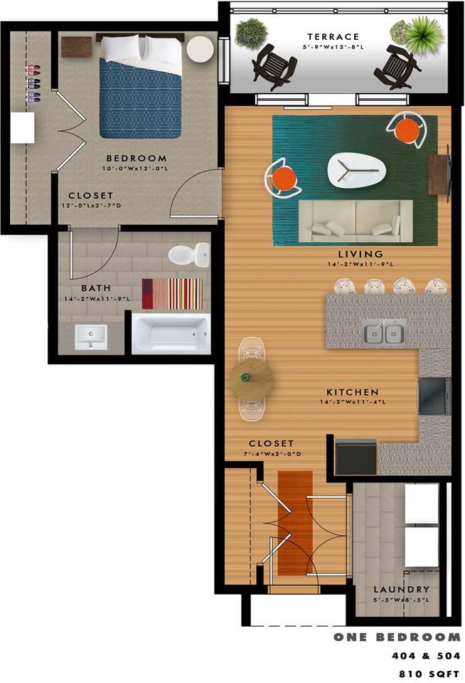 A2-D Floor Plan