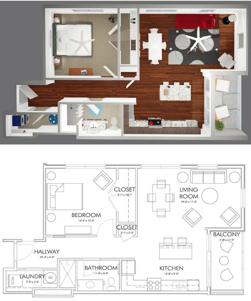 A1-E Floor Plan