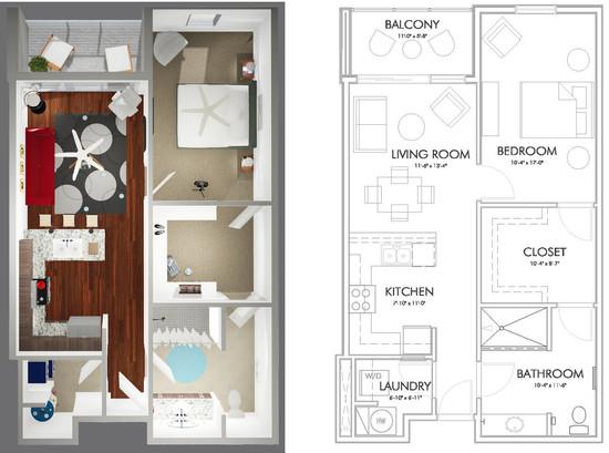 A1-D Floor Plan