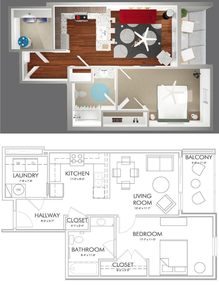 A1-F Floor Plan
